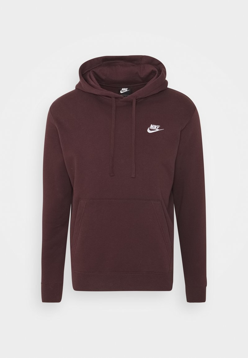 Nike Sportswear - CLUB HOODIE - Hættetrøjer - mahogany/white