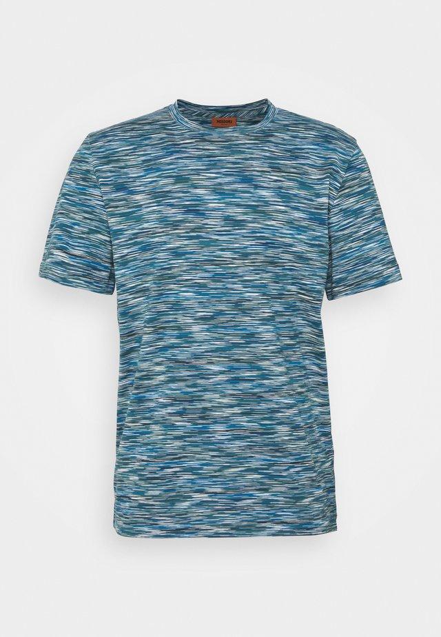 MANICA CORTA - T-shirt con stampa - blue