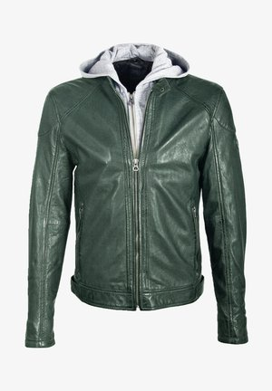 GBYOTIM NSLV - Veste en cuir - green