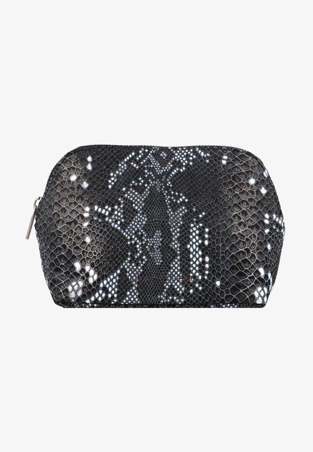 Wash bag - snake black/white