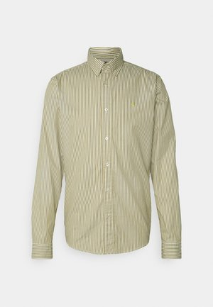 REGULAR FIT STRIPED OXFORD - Vapaa-ajan kauluspaita - beige