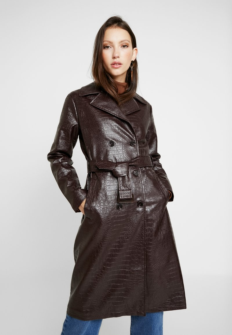 Dorothy Perkins - CROC - Trench - choc