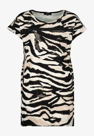 MIT ALLOVER PRINT IM ZEBRA LOOK - T-Shirt print - black
