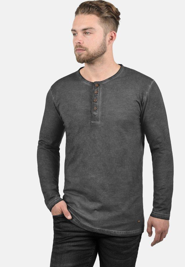 RUNDHALSSHIRT TIMUR - Long sleeved top - dark grey