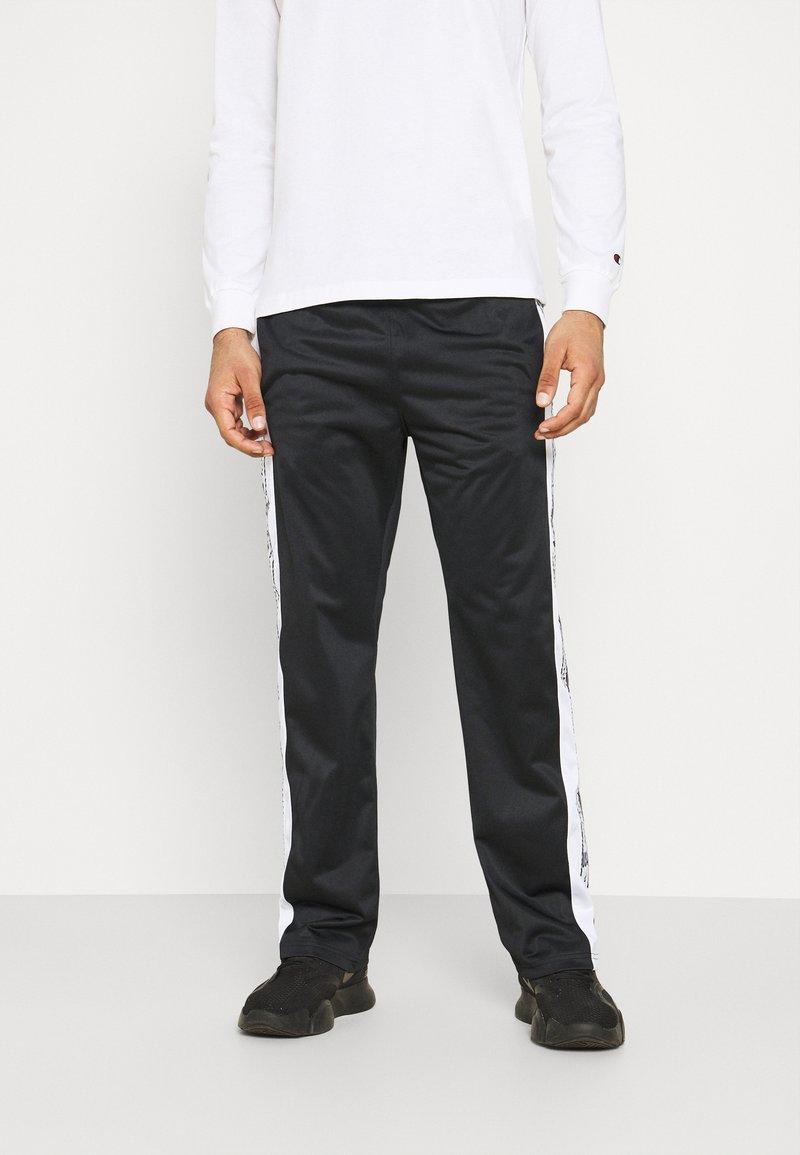 Champion - STRAIGHT HEM PANTS - Tracksuit bottoms - black
