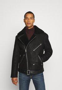 AllSaints - TERRO BIKER - Leather jacket - black - 0