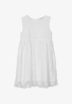 KLEID BLUMENSTICKEREI - Vestito elegante - bright white