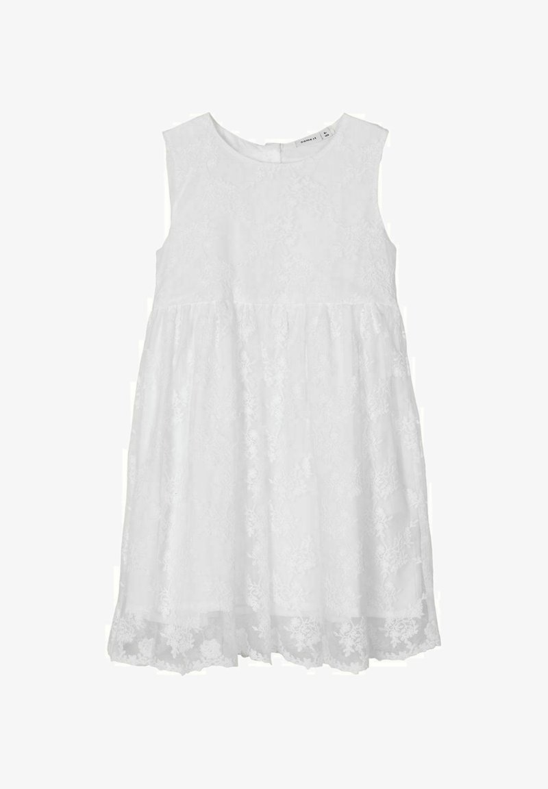 Name it - KLEID BLUMENSTICKEREI - Cocktail dress / Party dress - bright white