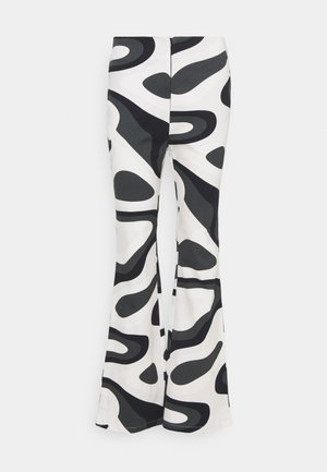 PALOMA PANTS - Broek - black/white