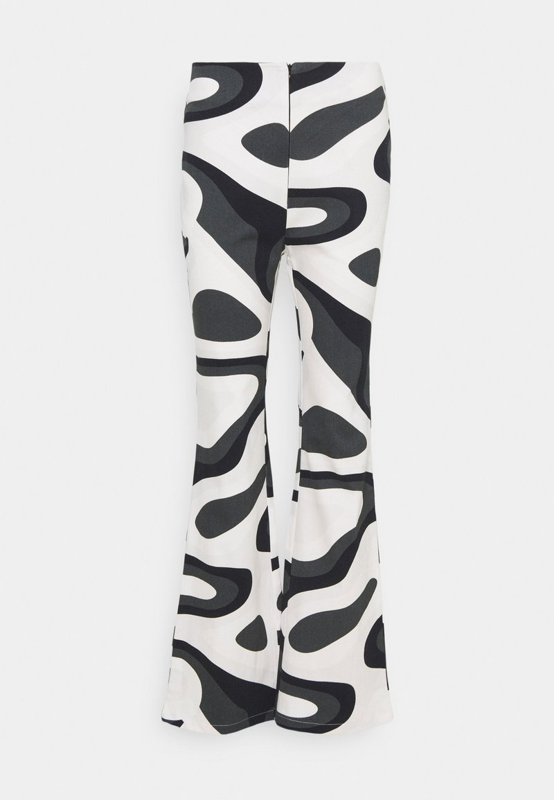 HOSBJERG - PALOMA PANTS - Trousers - black/white