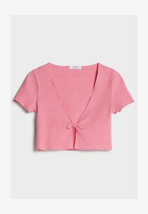 MIT SCHLEIFE - Neuletakki - pink