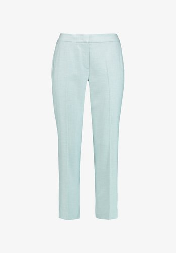 Trousers - aqua ecru gemustert