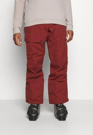 OUTPEAK SHELL BIB PANT - Snow pants - madder brown/ebony