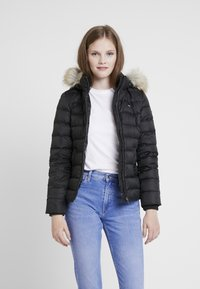 Tommy Jeans - ESSENTIAL HOODED JACKET - Down jacket - tommy black - 0
