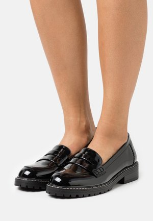 FLEX CHUNKY LOAFER - Loaferit/pistokkaat - black