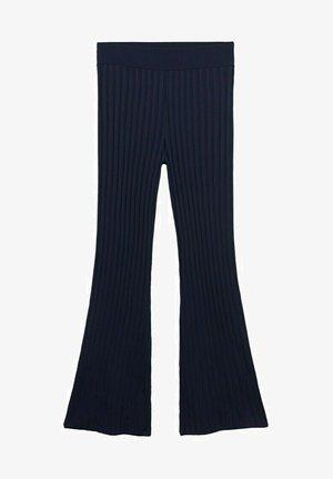 PUNTO CANALÉ - Trousers - azul marino oscuro