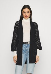 New Look - STITCHY KIMONO - Strikjakke /Cardigans - black - 0