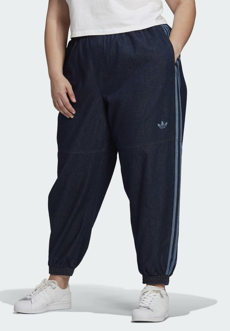 adidas Originals - DENIM TRACKPANT - Tracksuit bottoms - blue