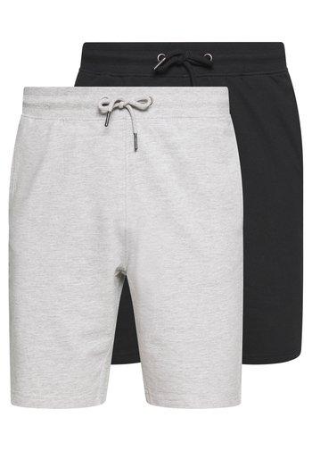 ONSNEIL 2 PACK - Shorts - black/grey
