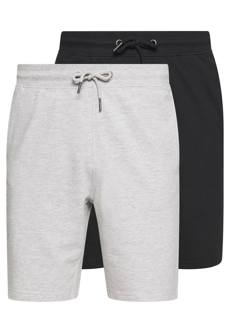 Only & Sons - ONSNEIL 2 PACK - Shorts - black/grey