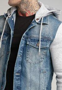 SIKSILK - JACKET - Denim jacket - blue denim - 4