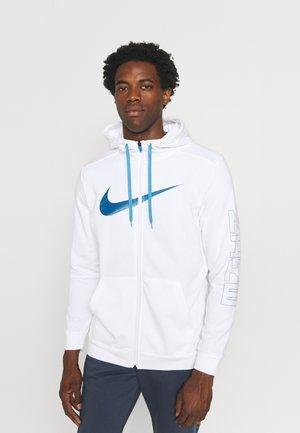 ENERGY - Zip-up sweatshirt - white/court blue