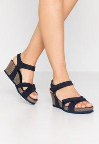 Panama Jack - VIERI BASICS - Sandály na platformě - dunkelblau - 0