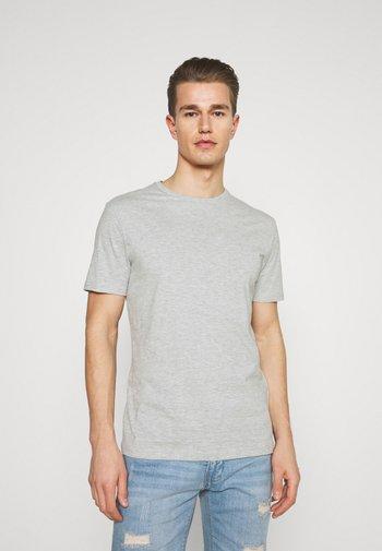 3 PACK - T-shirt - bas - black/grey/bordeaux