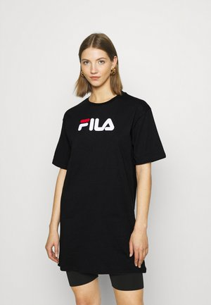 SATINKA TEE DRESS - Vestito di maglina - black