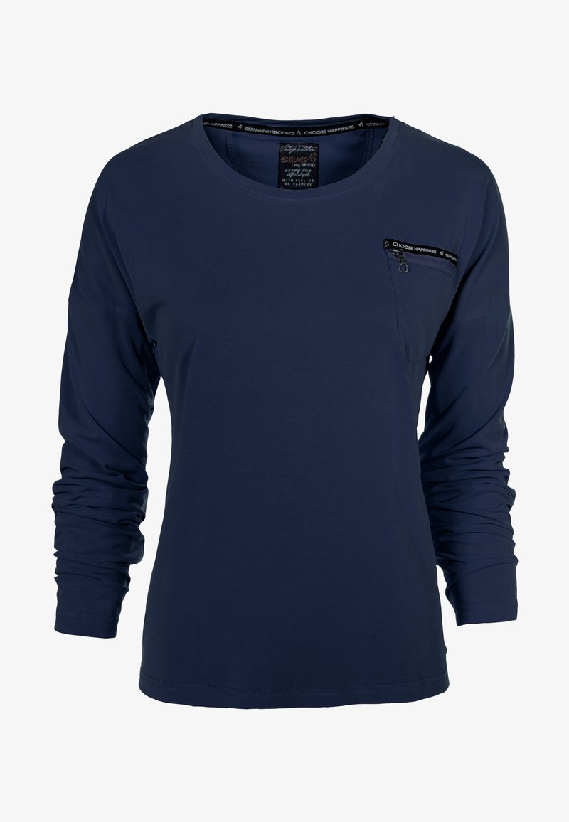 S'questo - Long sleeved top - dunkelblau