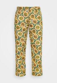 SUNFLOWER TAPESTRY WOVEN SKATE - Pantalones - green/yellow