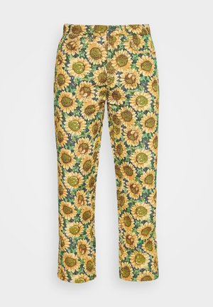 SUNFLOWER TAPESTRY WOVEN SKATE - Trousers - green/yellow