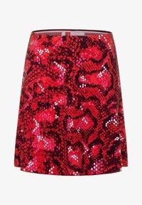 Street One - MIT PRINT - A-line skirt - rot - 3