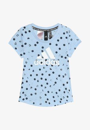 TEE - Print T-shirt - glow blue/legend ink/white