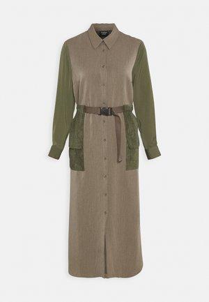 DAWN DRESS - Shirt dress - winter moss melee