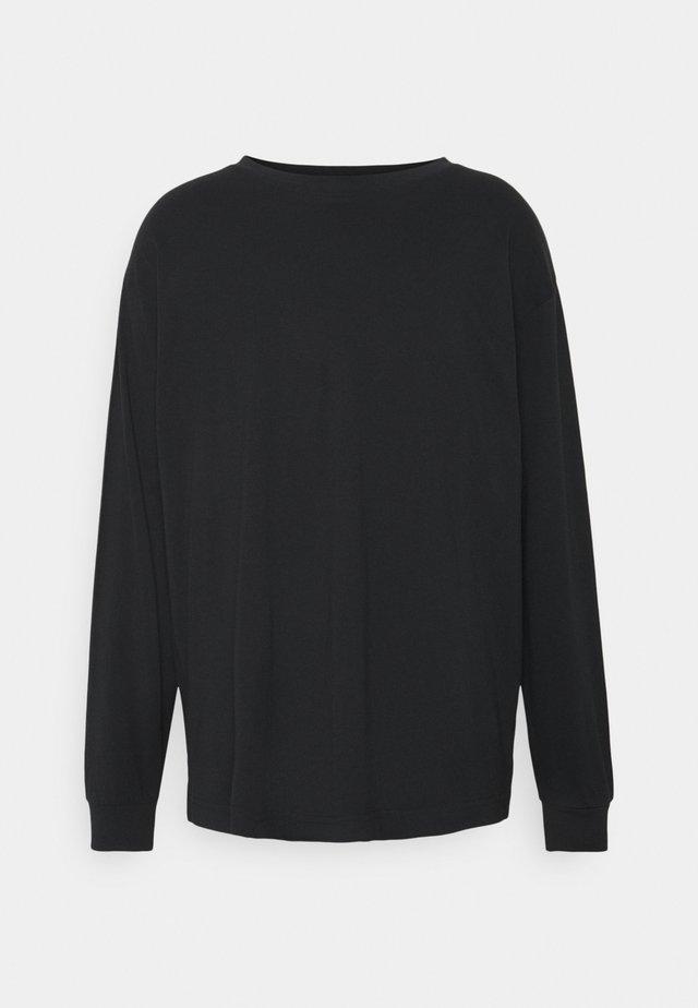 UNISEX REGULAR FIT - Pitkähihainen paita - black