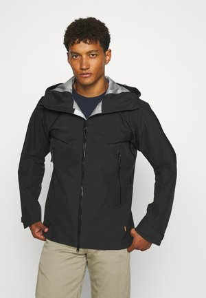 CRATER HOODED JACKET MEN - Hardshell jacket - black