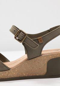 El Naturalista - LEAVES - Platform heels - kaki - 2