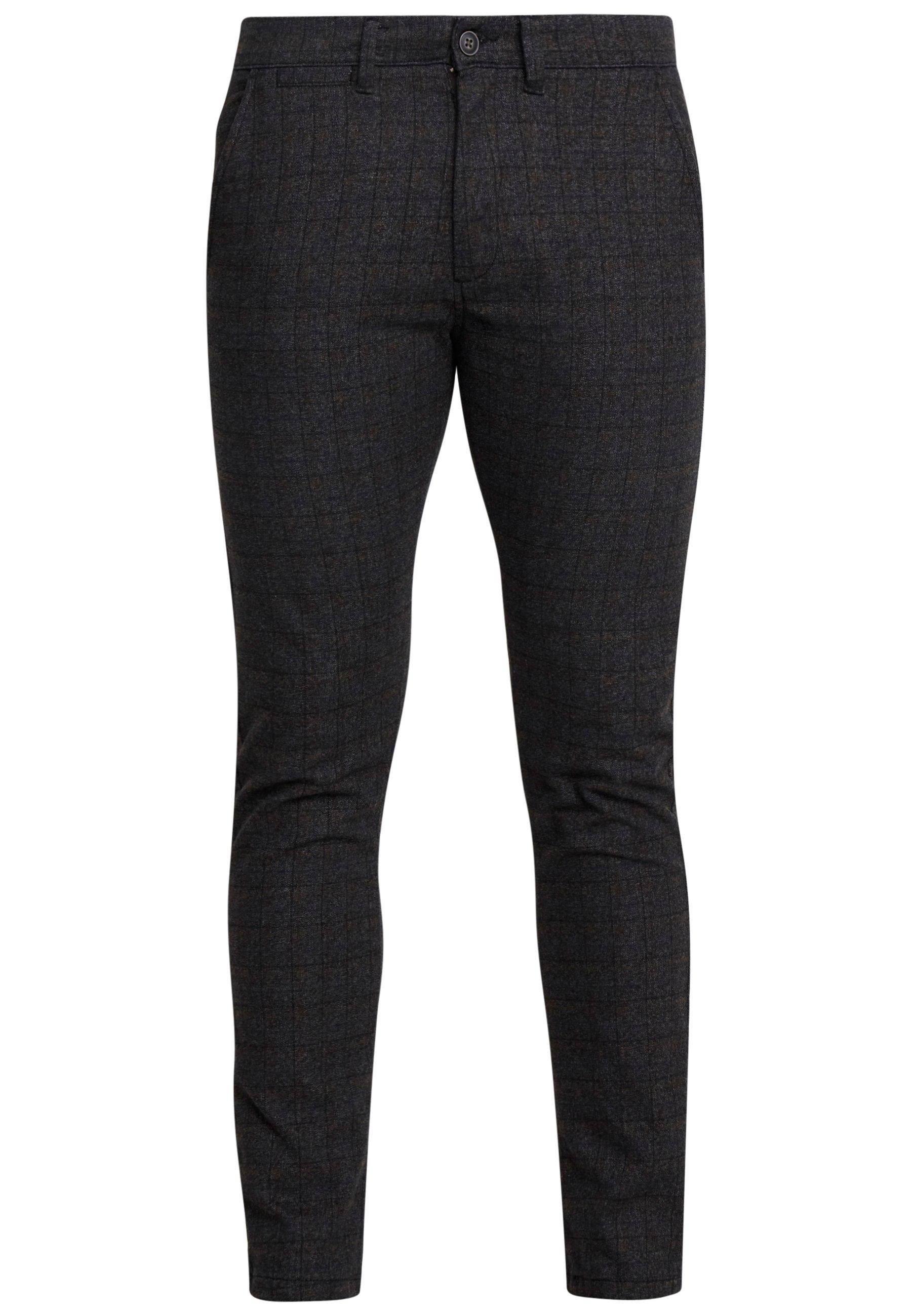 Jack & Jones Jjimarco Jjcharles Check - Spodnie Materiałowe Black