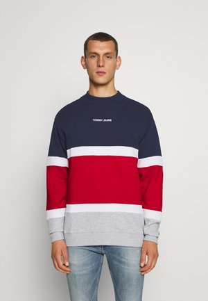 RETRO COLORBLOCK HIGH CREW - Bluza - twilight navy/multi