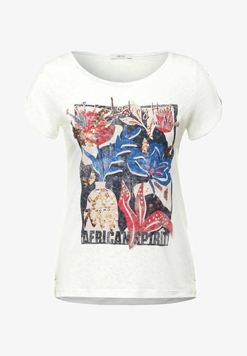 BURNOUT OPTIK - Print T-shirt - weiß