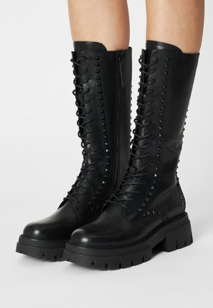 LULLABY STUDS - Lace-up boots - black