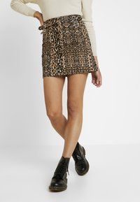 Topshop - ABSTRACT - A-linjekjol - brown - 0