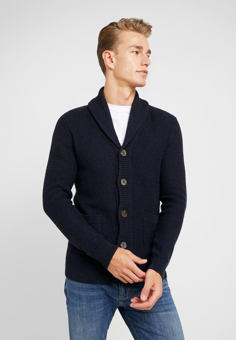 Selected Homme - Cardigan - maritime blue/black/dark navy