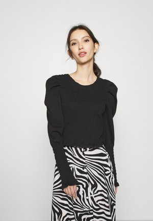 SMOCKIE  - Long sleeved top - solid black