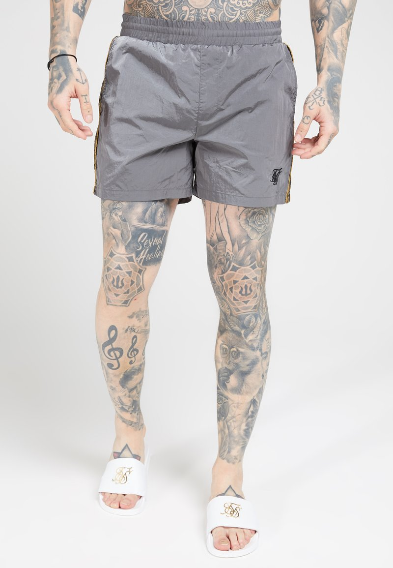 SIKSILK - CRUSHED TAPE - Shorts - grey & gold