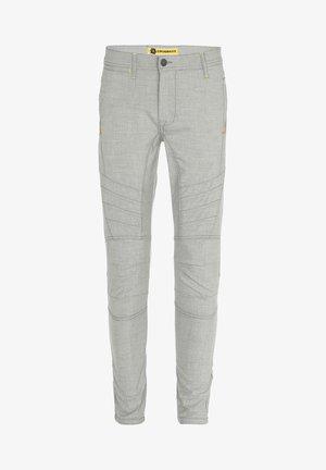 MIT ZIERNÄHTE - Trousers - grey
