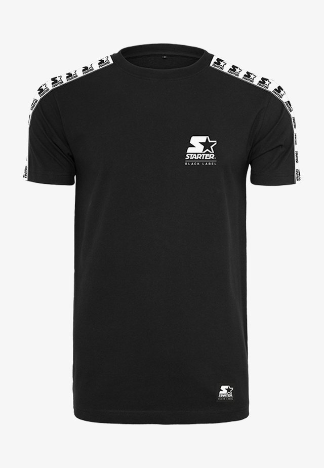 LOGO TAPED - T-shirt imprimé - black