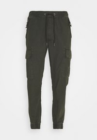 Alpha Industries - RIPSTOP JOGGER - Cargo trousers - greyblack - 0
