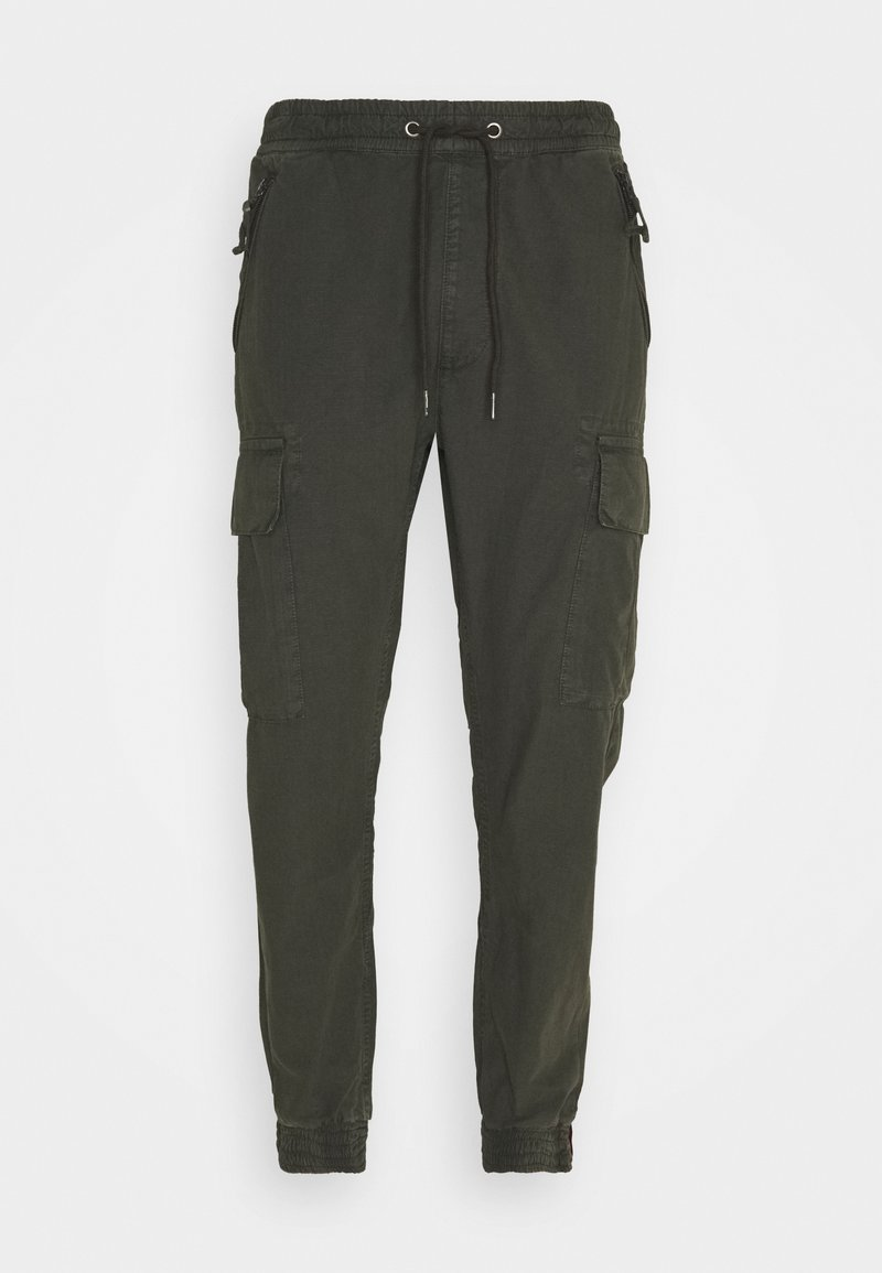Alpha Industries - RIPSTOP JOGGER - Cargo trousers - greyblack